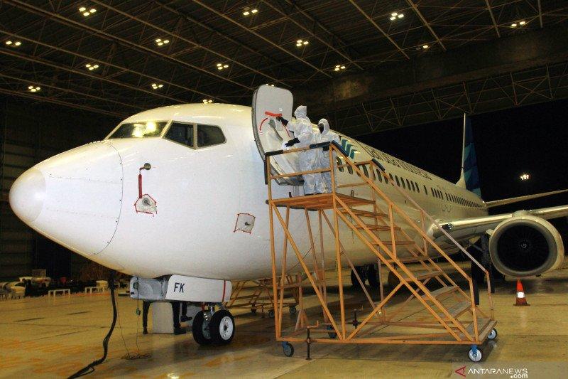 Garuda Indonesia Group memastikan perhatikan jadwal pemeliharaan pesawat