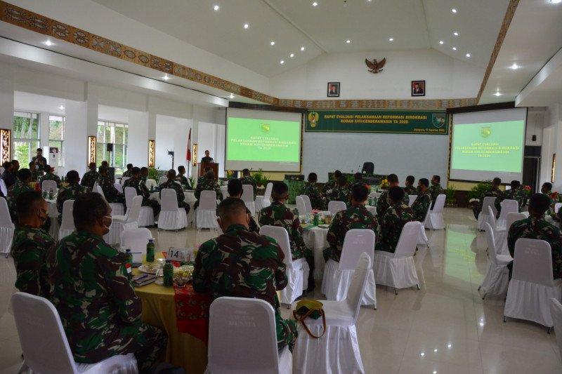 Kasdam XVII: Program reformasi birokrasi Kodam XVII/Cenderawasih alami kemajuan