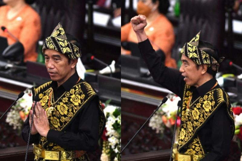 Menganalisa ekspresi Presiden Jokowi saat berpidato di Sidang Tahunan MPR