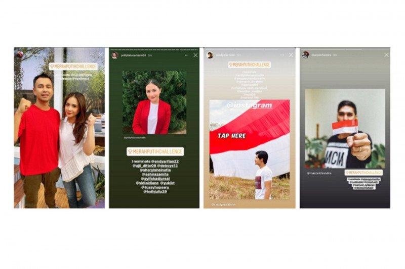 Instagram dan Snapchat menyemarakkan peringatan HUT ke-75 RI