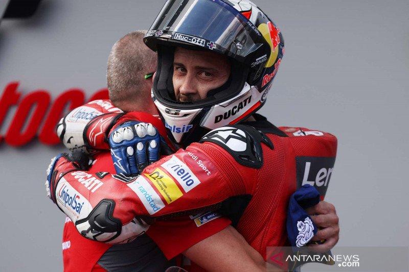 Dovizioso juarai GP Austria, meski lomba sempat dihentikan karena kecelakaan