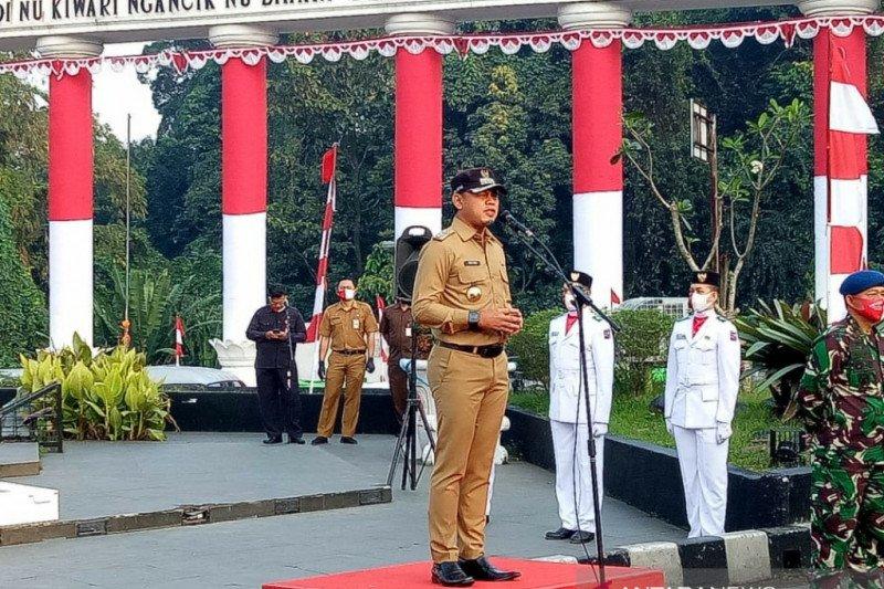 Upacara bendera peringati HUT ke-75 RI di Bogor dilaksanakan secara virtual