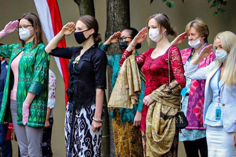 Warga Rusia Ikuti upacara peringatan HUT RI di KBRI Moskow