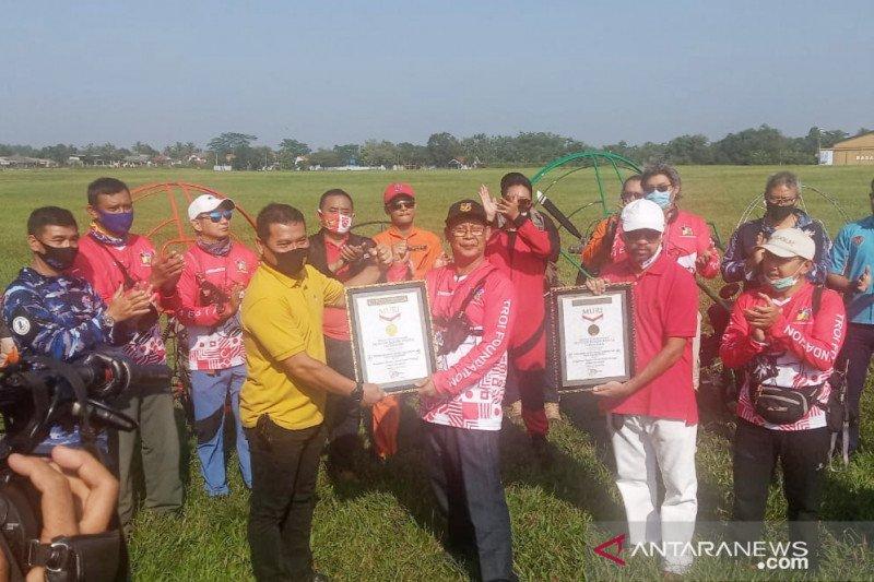 Pengibaran bendera tertinggi di Lanud Atang Senjaya Bogor pecahkan rekor dunia