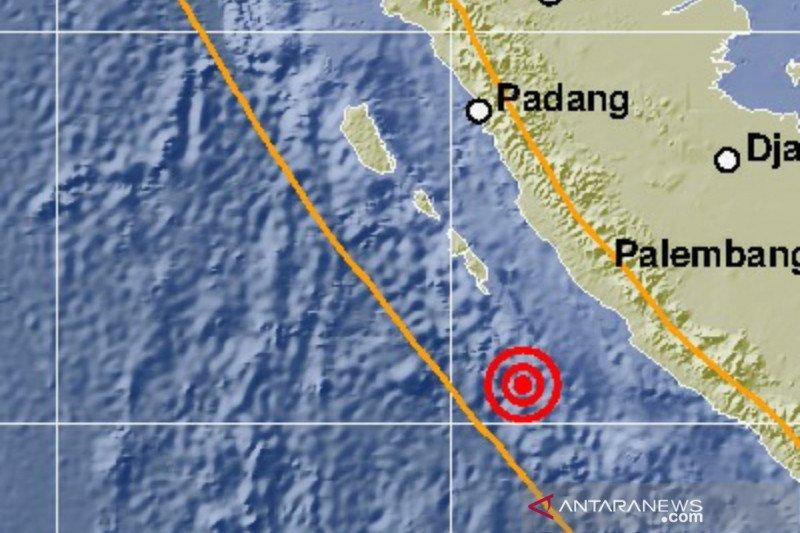 Gempa bumi magnitudo 6,9 guncang Bengkulu tidak berpotensi tsunami