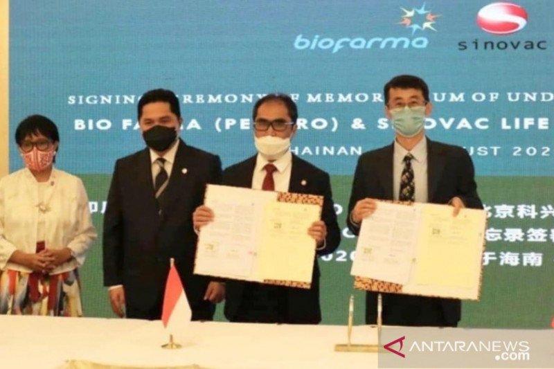 Sinovac Biotech prioritaskan vaksin COVID-19 untuk Indonesia sampai akhir 2021
