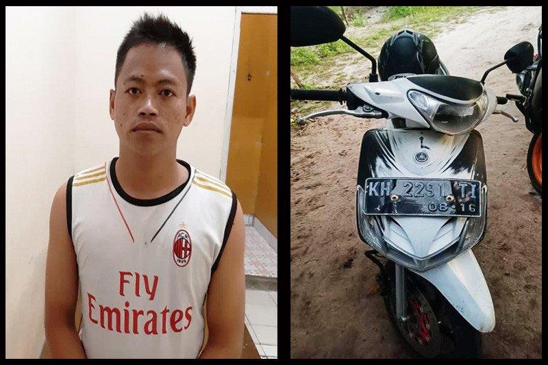 Ini wajah seorang jambret yang ditangkap polisi di Palangka Raya