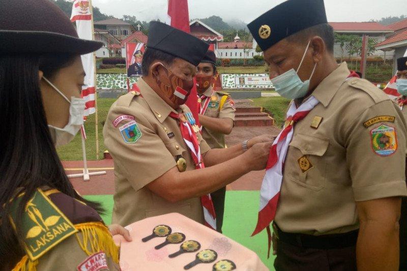 Lapas Kolonodale miliki Gudep Pramuka, pengurusnya dilantik Kakanwil Kemenkumham Sulteng