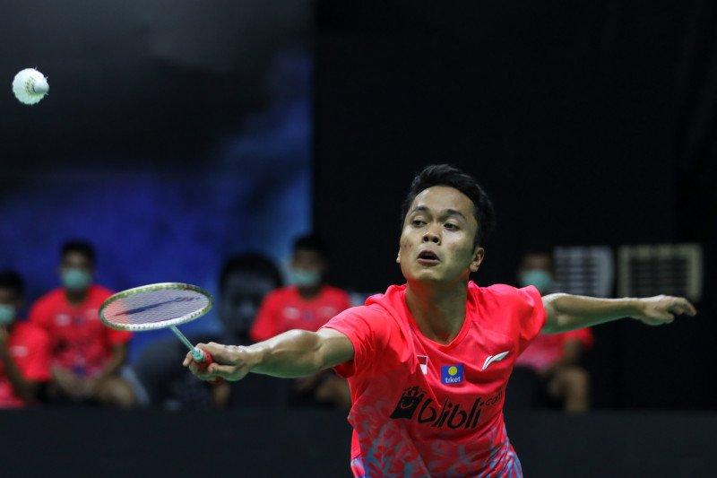 Anthony Ginting loloske putaran kedua Thailand Open II