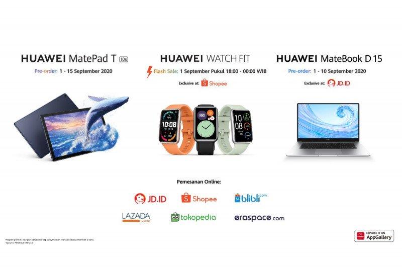Huawei rilis MateBook D15 dan MatePad T10s