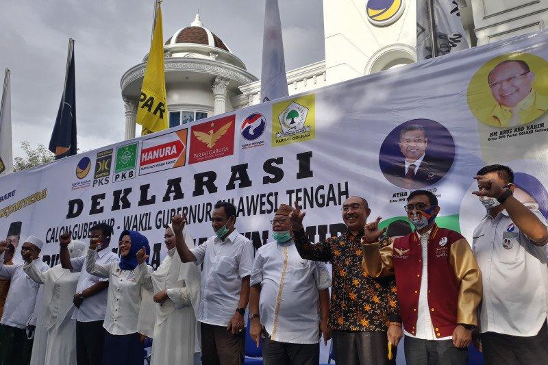 Sepuluh parpol koalisi deklarasi Rusdi-Ma'mun untuk maju Pilkada Sulteng