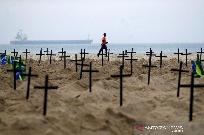 Brazil catat tambahan 14.521 kasus positif COVID-19 dan 447 kematian sehari