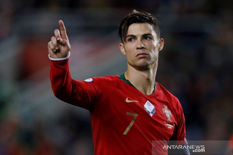 Ronaldo terancam tunda ambisi lewati 100 gol bersama Portugal