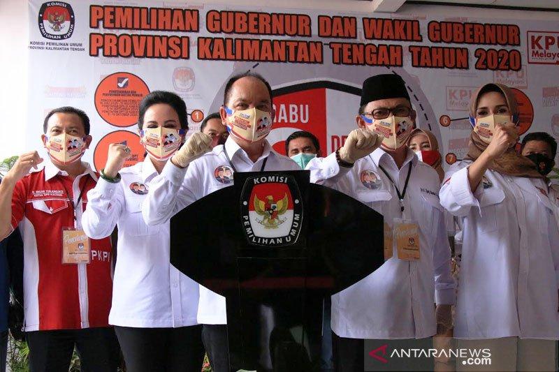 Pasangan Ben-Ujang resmi daftar ke KPU Kalteng