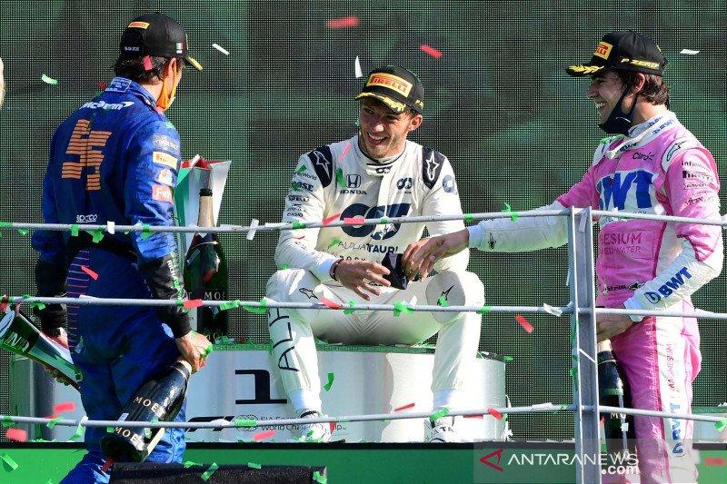 Gasly raih kemenangan F1 perdana di GP Italia