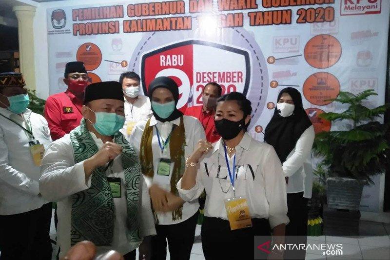 Ketum Partai Emas ikut mendampingi pendaftaran Sugianto-Edy ke KPU Kalteng