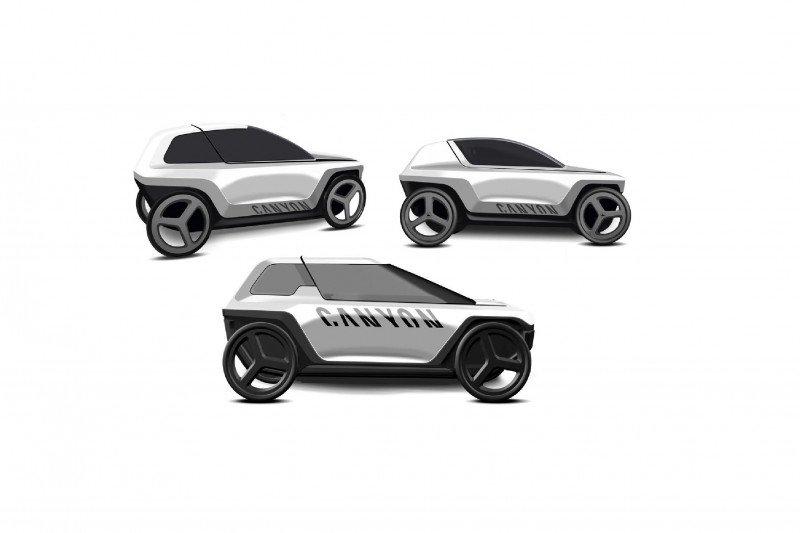 Mobil konsep Canyon digenjot mirip sepeda