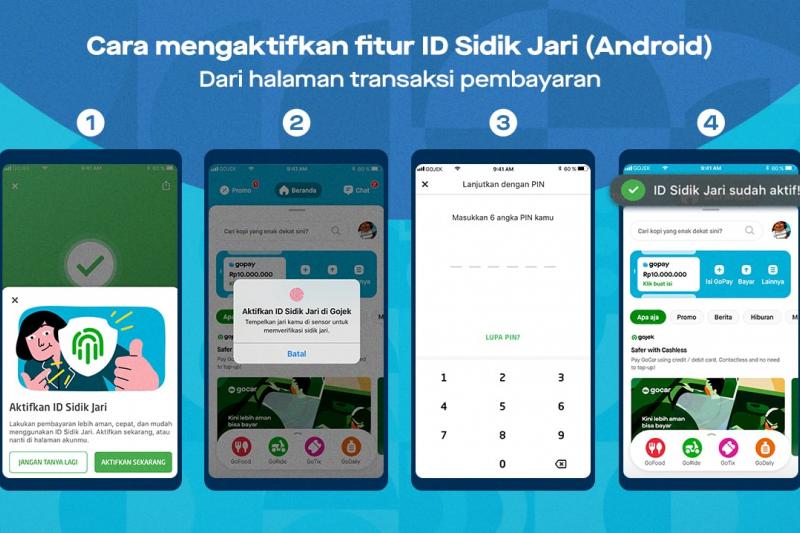 GoPay ajak pengguna aktifkan fitur biometrik, ini caranya