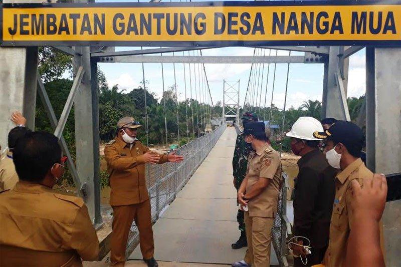 Kementerian PUPR telah serahkan empat Jembatan Gantung ke Pemkab Kobar