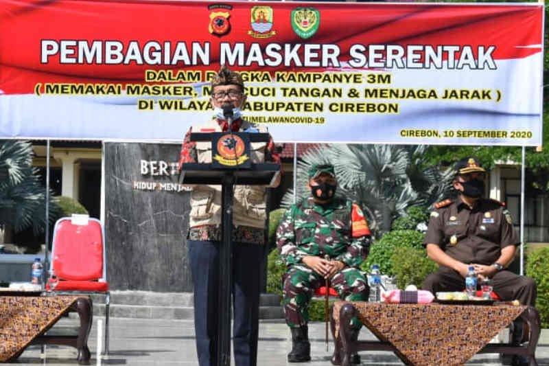 2,5 juta masker kembali dibagikan Pemkab Cirebon
