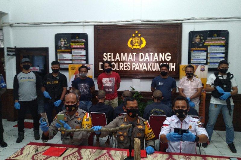 Lima pelaku pengeroyokan berujung tewas diamankan Polres Payakumbuh, tiga diantaranya di bawah umur