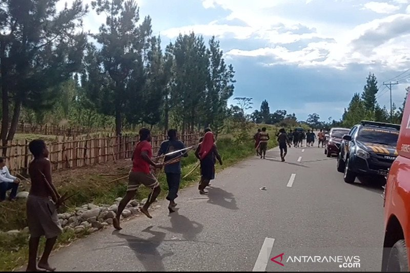 Terlibat perang tradisional, 16 orang di Jayawijaya terkena panah