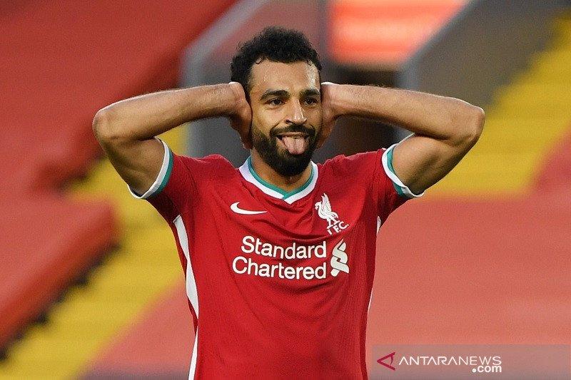 Salah hattrick, Liverpool susah payah atasi Leeds 4-3