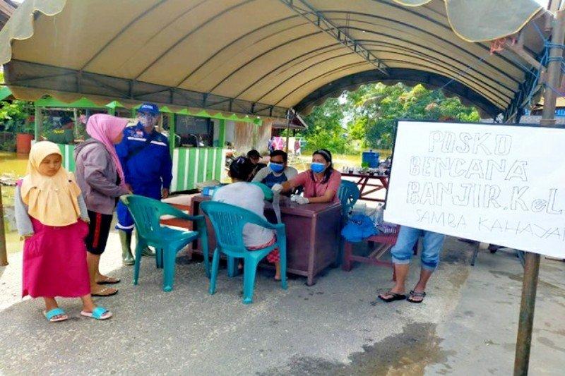 Sejumlah puskesmas di Kalteng terendam banjir, Dinkes dirikan Posko Pelayanan Kesehatan