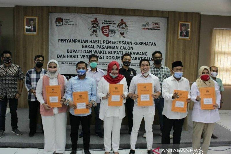 KPU Karawang sebut tiga bakal paslon Pilkada 2020 memenuhi syarat