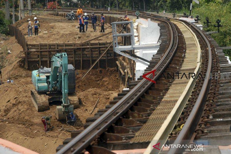 Kemenhub targetkan rel ganda Bogor-Sukabumi selesai Agustus 2021