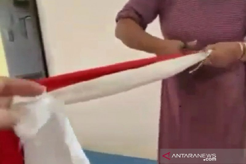 Polres Sumedang  benarkan ada aksi pengguntingan bendera Merah Putih