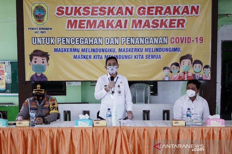 Pati canangkan gerakan pakai masker selama 14 hari