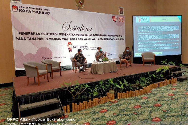 KPU Manado sosialiasikan Ranperda pada parpol dan bapaslon