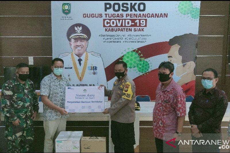Astra donasi satu unit ventilator bantu penanganan COVID-19 di Siak