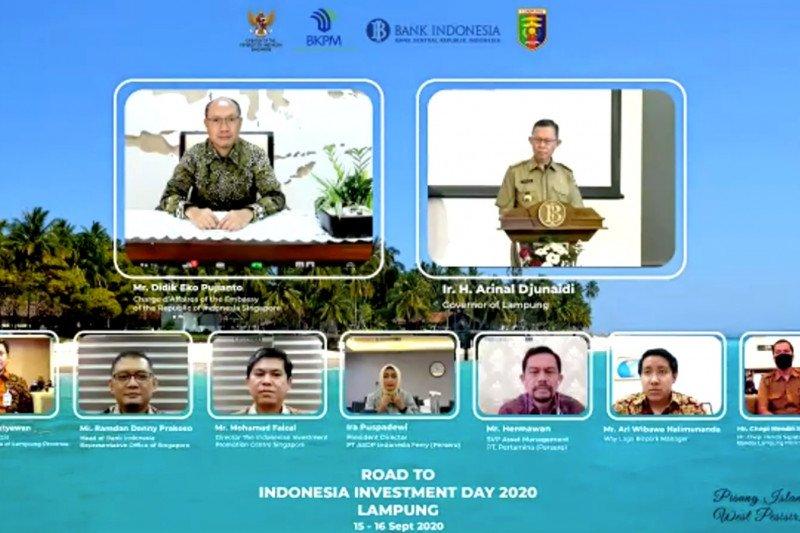 Lampung tawarkan tujuh proyek investasi kepada investor Singapura