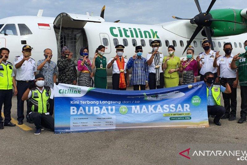 Maskapai penerbangan Citilink resmi beroperasi di Baubau