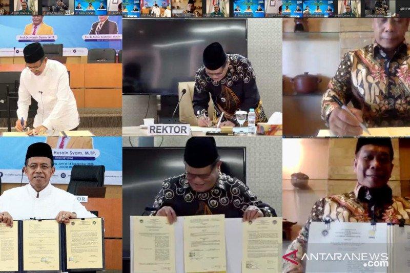 UNP tandatangani MoU dengan UNM dan UNNES