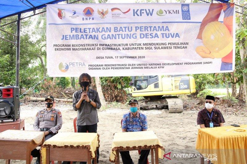 UNDP dan YKMI bangun jembatan  pulihkan akses pertanian warga Sigi