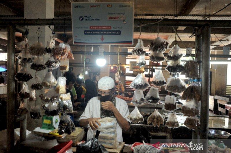 Web pasar dari BRI untuk Pasar Soak Bato Palembang