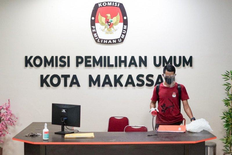 Cegah sebaran COVID-19 kantor KPU Sulsel-Makassar disterilisasi