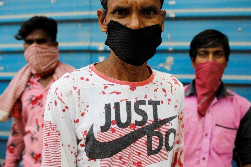 Infeksi virus corona di India kembali melonjak