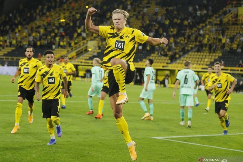 Dua gol Haaland antar Dortmund tekuk Gladbach 3-0