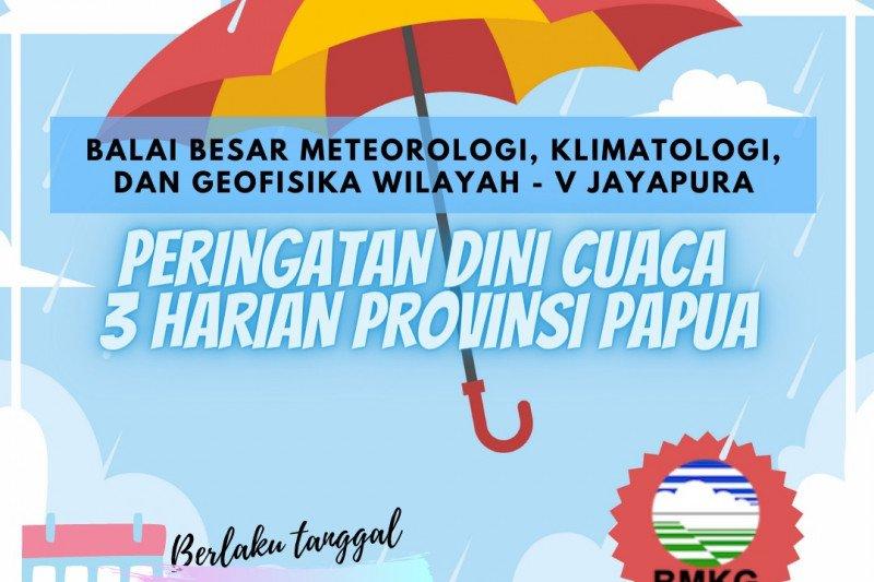 BBMKG Jayapura: waspadai potensi hujan lebat tiga hari ke depan