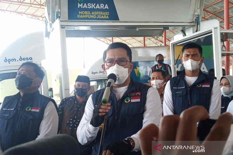 Ridwan Kamil serahkan Maskara ke tujuh desa mandiri di Cirebon
