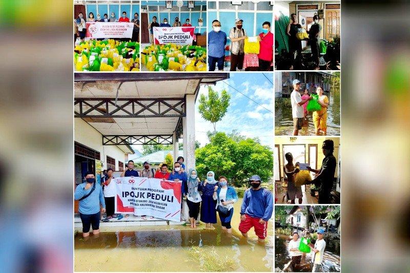 IPOJK dan IIPOJK berikan bantuan kepada korban banjir di Kalteng