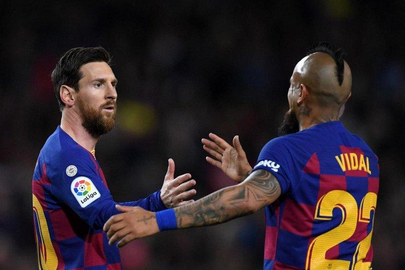 Segera gabung Inter, Vidal mendapat pesan perpisahan dari Lionel Messi