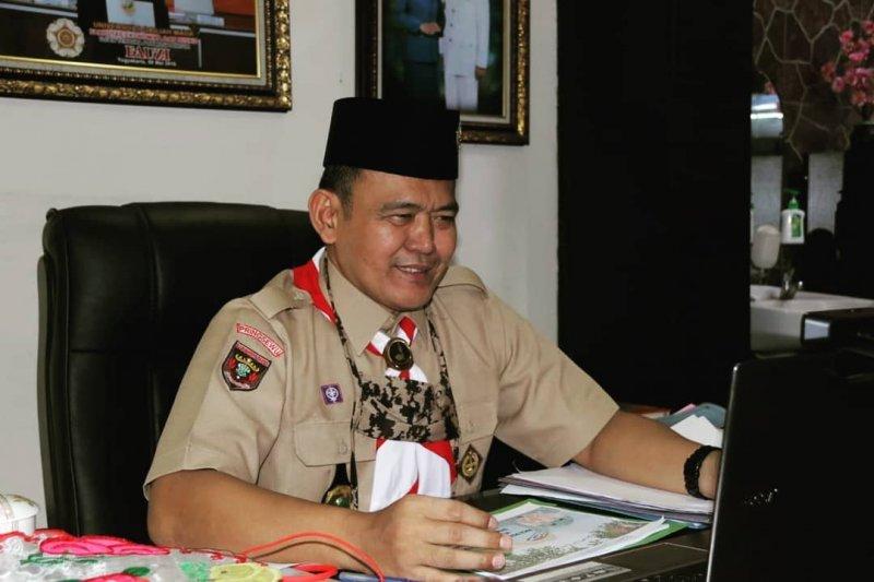 Pramuka ikut andil pelaksanaan World Clean-up Day di Kabupaten Pringsewu