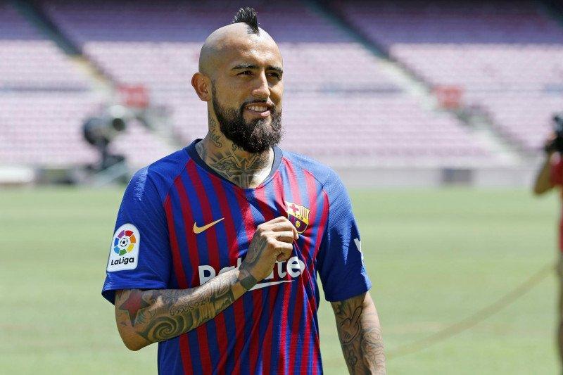 Vidal mengucapkan perpisahan kepada penggemar Barcelona