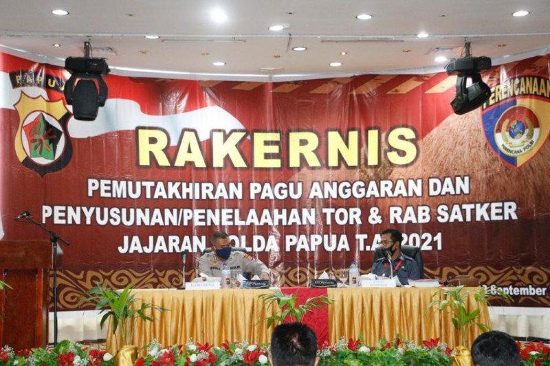 Polda Papua gelar rakernis pemutakhiran pagu anggaran TA 2021