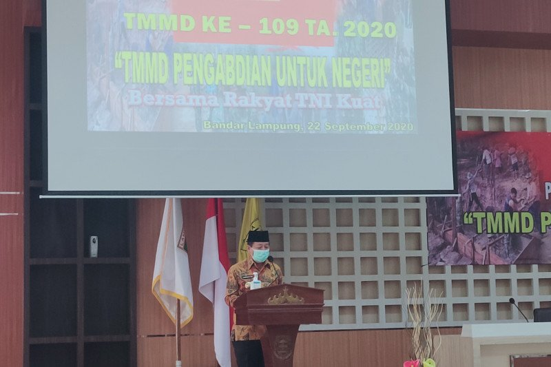 Wali Kota Bandarlampung buka TMMD ke-109